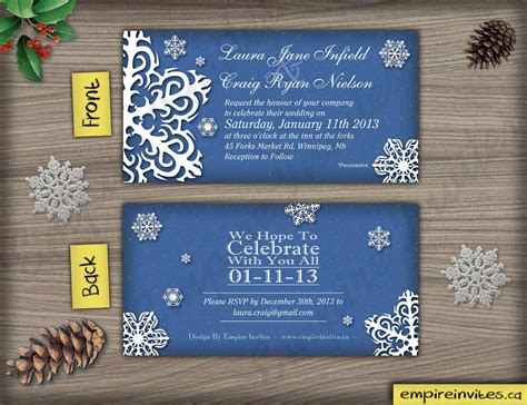 affordable wedding invitations edmonton custom snowflake wedding invitations canada empire invites