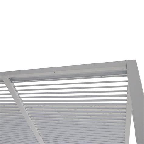 pavillon mit lamellendach sunfun pavillon palma 3 x 4 x 2 4 m wei 223 bauhaus