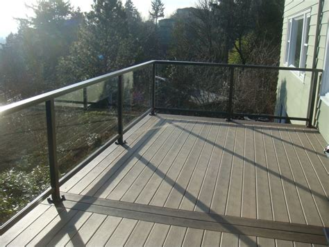 Glass Patio Railing Systems by Glass Railing Deck Deck Masters Llc Portland Or