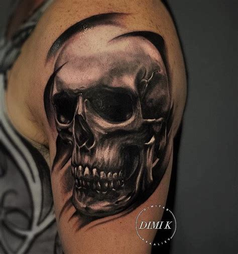 skull shoulder tattoo designs 58 unique skull tattoos ideas and designs