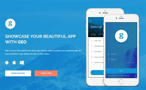 grab this month s may free app landing page template