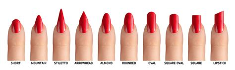 most popular nail length and shape 10 nail shapes to flatter your fingers this autumn