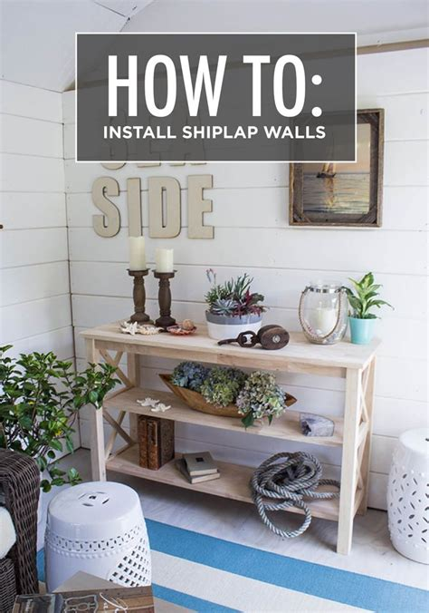 How To Install Shiplap Walls how to install shiplap walls home the o jays and cape cod