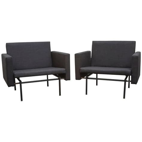 pair of convertible lounge to sleeper chairs for sale