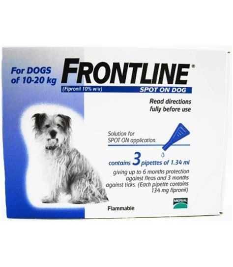 spot for dogs frontline spot on for dogs 10 20kg moomoopets sg singapore s pet supplies shop