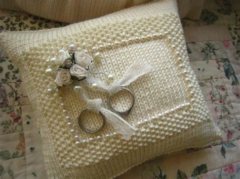 knit ring bearer pillow wedding ring