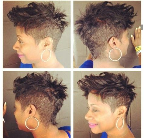 mohawk hairstyles african american women shaved mohawk hairstyles black women
