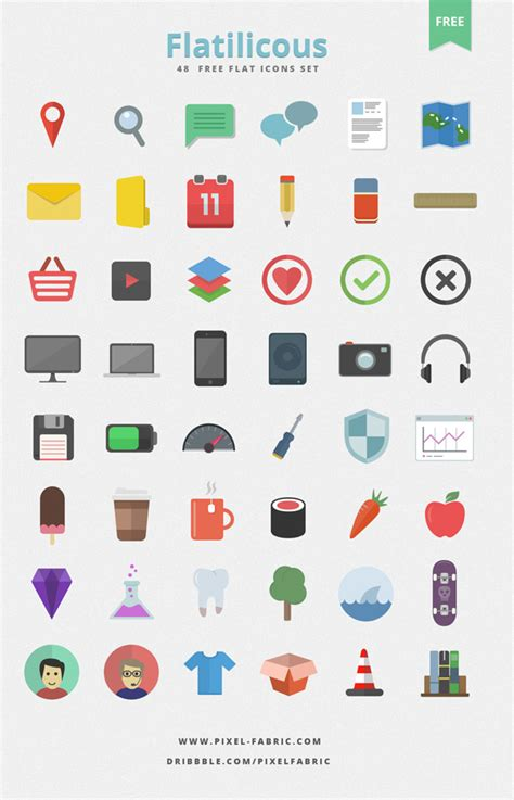 icon design upholstery flatilicious 48 free flat icons by pixel fabric