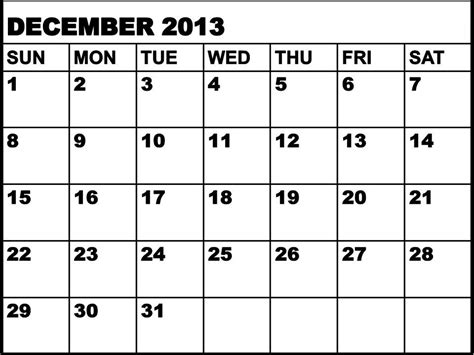 december month calendar 2013 printable 5 best images of free printable calendar december 2013