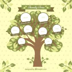 decorative family tree template family tree with circles and decorative leaves vector