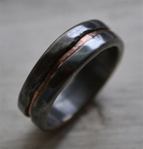 Handmade Artisan Engagement Rings - wedding bands copper rings and engagement bands on