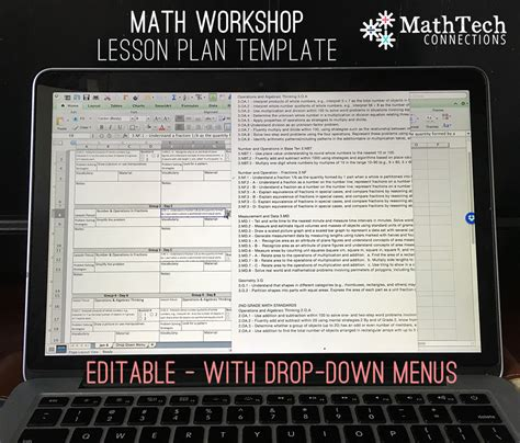 lesson plan template with drop down menu how to plan organize differentiated math groups math