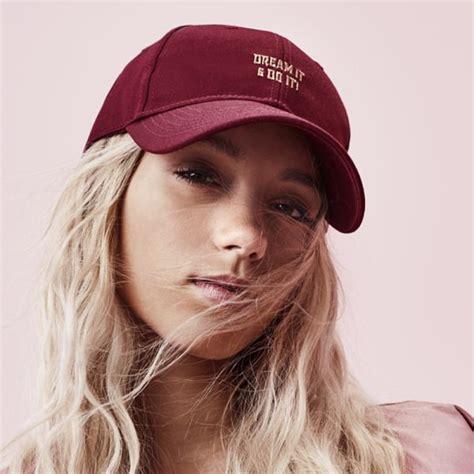 Liza Cape it do it cap maroon caps and lena