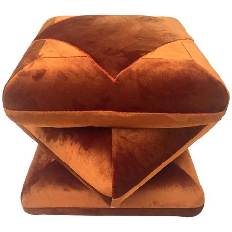 velvet pouf ottoman cabana velvet ottoman pouf in collaboration with dedar at