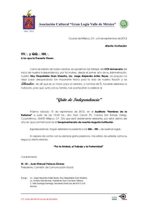 modelo carta de invitacion a conferencia cent 183 ben 183 leal y fundadora resp 183 log 183 simb 183 quot mariano arista n 176 2 quot septiembre 2012