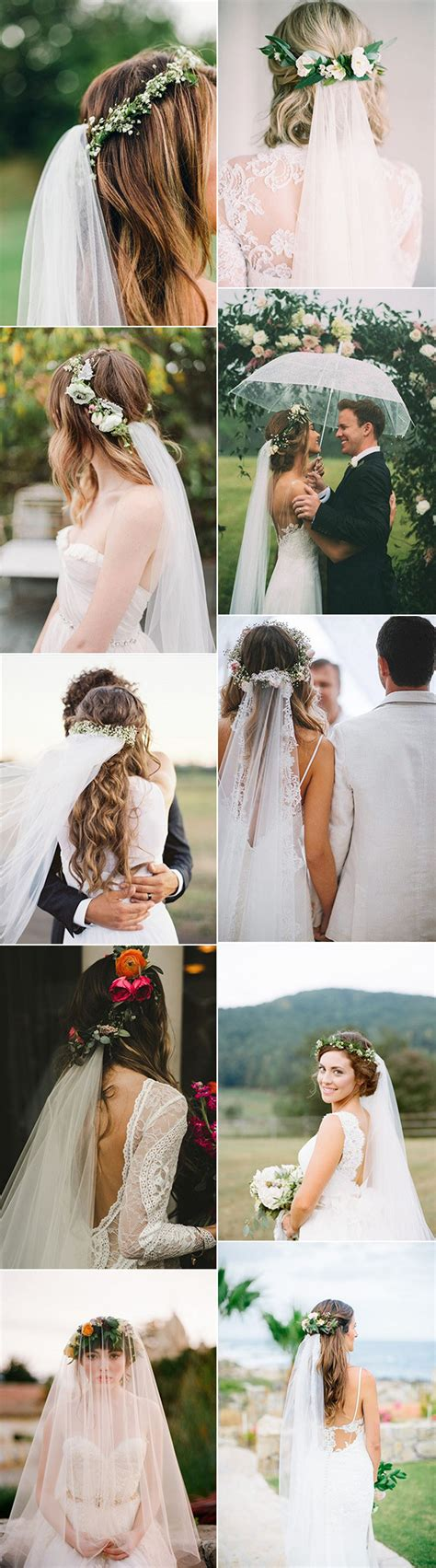 wedding hairstyles with crown and veil top 10 wedding hairstyles with flower crown veil for 2018