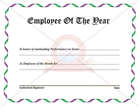 best employee award template 7 best employee certificate images on