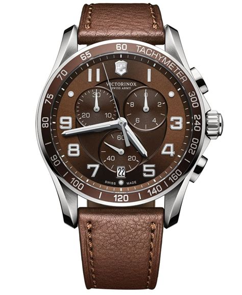Swiss Army Ba 620 Brown s chronograph classic xls brown leather