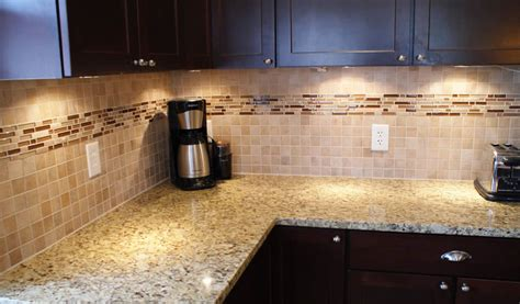 Kitchen With Glass Tile Backsplash Glass And Mosiac Backsplash Wolf Custom Tile And