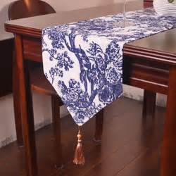 White Dining Table Runner Vintage Blue And White Porcelain Style Table