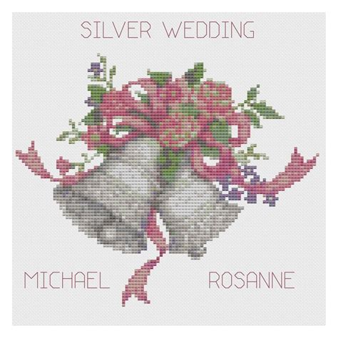 Wedding Bells Ebay by Silver Wedding Bells Anniversary Sler Cross Stitch Kit