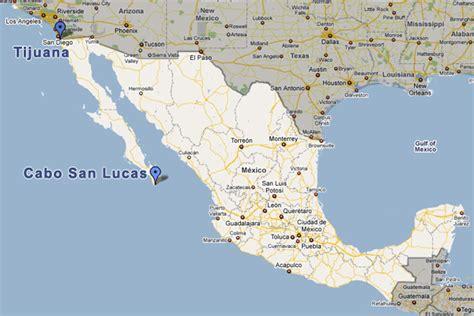 map of mexico cabo cabo san lucas los cabos information