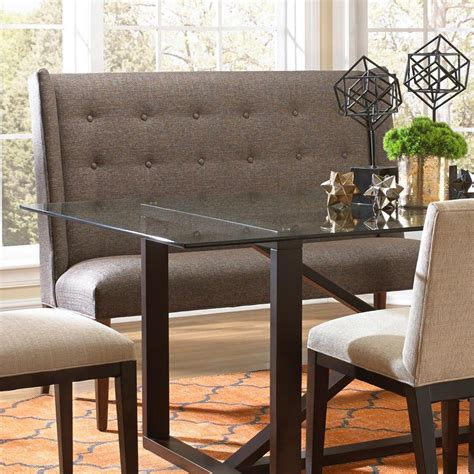 upholstered dining bench with back bemodern dining items upholstered dining settee with tufted wing back belfort