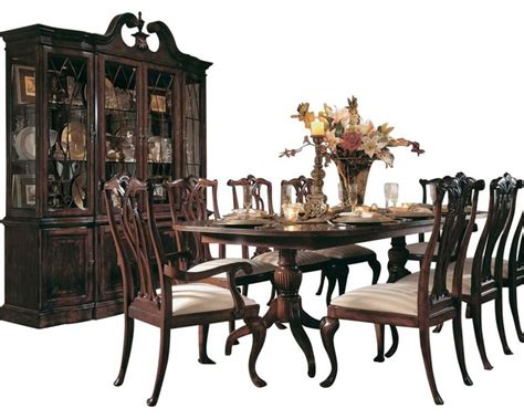 american drew dining room sets american drew cherry grove 8 dining room set in antique cherry traditional dining sets
