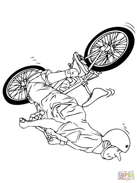 Bmx Coloring Page by Bmx Flipwhip Coloring Page Free Printable Coloring Pages