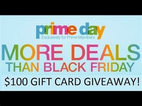 Amazon Prime Day Giveaway - closed amazon prime day 100 gift card giveaway youtube