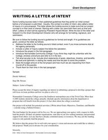 writing a letter of intent