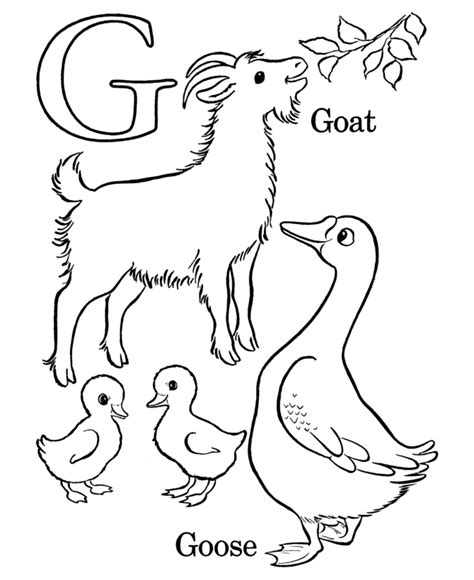 alphabet coloring pages g alphabet coloring pages letter g free printable farm
