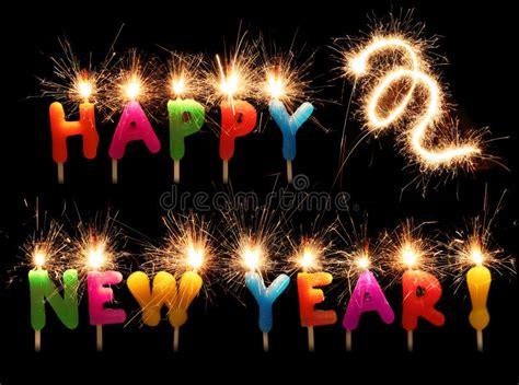 candele scintillanti candele scintillanti festive di nuovo anno felice