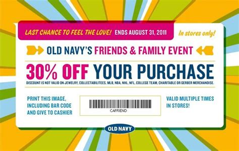 old navy coupons in store canada old navy canada 30 off friends family discount