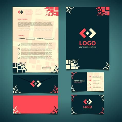 free download stationary layout design vector corporate stationery design vector free download