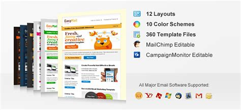 11 Professional Email Templates From Chocotemplates Only 12 Mightydeals Mailchimp Calendar Template