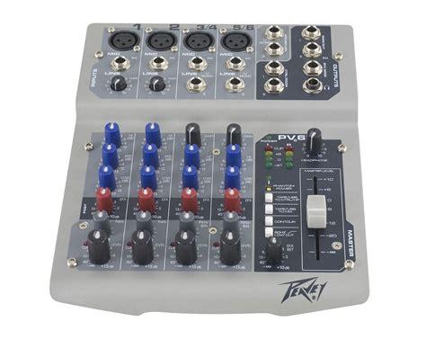Mixer Peavey peavey pv6usb 4 channel mixer with phantom power