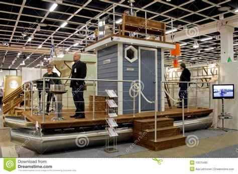 floating boat show helsinki sauna boat at boat show editorial image image 13075490