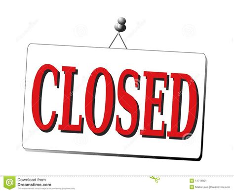 office closed clipart