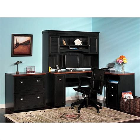 Office Furniture L Desk by Bush Furniture Fairview L Shaped Wood Home Office Desk Ebay