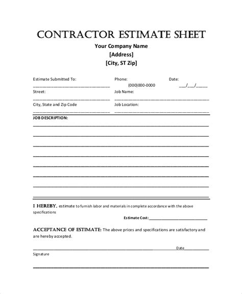 design construct proposal form sle construction proposal forms 7 free documents in