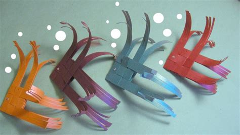 Paper Fish Craft - curiouser and curiouser handmade craft paper fish