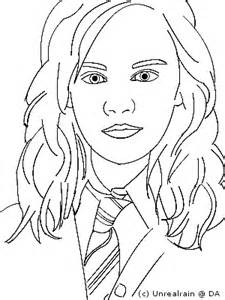 how to draw harry potter hermione granger sketch coloring page