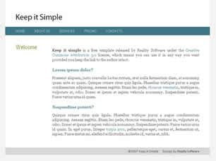 Keep It Simple Free Website Template Free Css Templates Free Css Simple Css Templates For Beginners