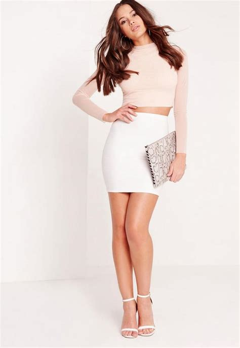 Bodycon Mini Skirt bodycon bandage mini skirt white missguided ireland