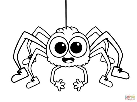 Incy Wincy Spider Coloring Page Free Printable Coloring Spider Colouring Pages