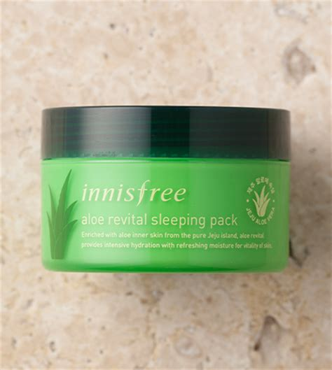 Aloe Revital Sleeping Pack 100ml skin care aloe revital sleeping pack innisfree