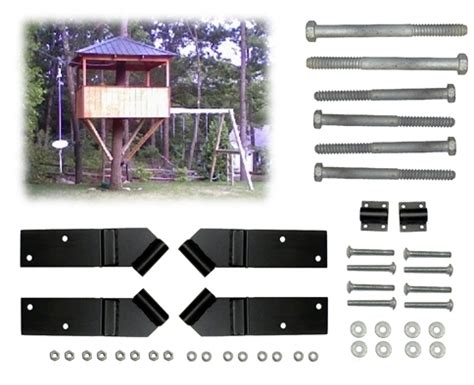 tree house kits 8 square treehouse kit tab treehouse bolts hardware
