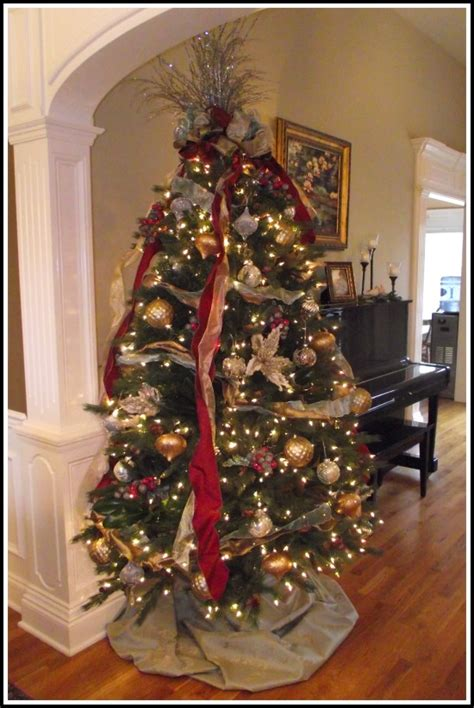 christmas tree decorating ideas ribbon