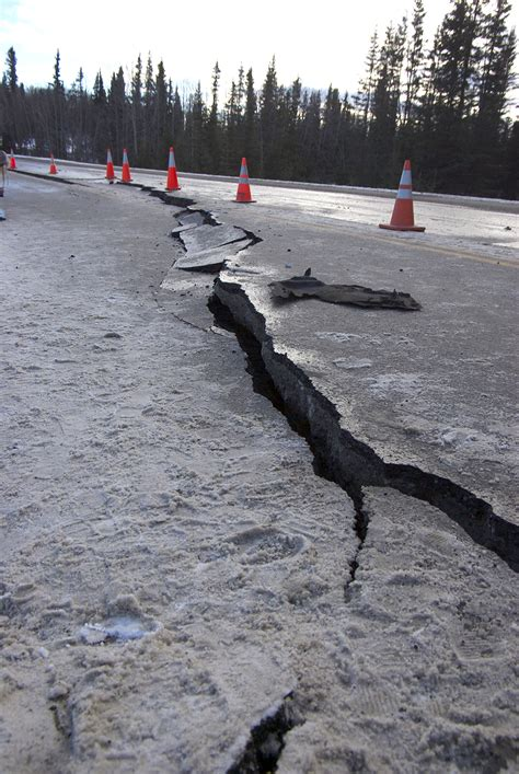 section 8 1 what is an earthquake sunday s earthquake wrecks roads in southcentral alaska